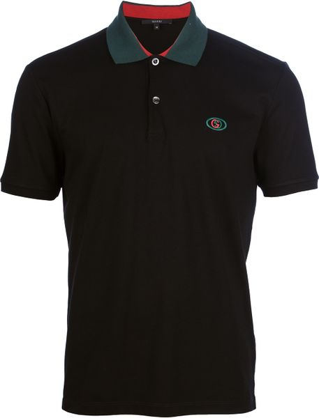 Gucci Polo Shirt in Black for Men | Lyst
