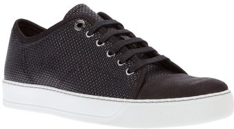 Lanvin Peforated Trainer - Lyst