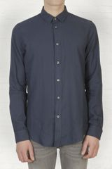 Maison Martin Margiela  Regular Cotton Shirt in Blue for Men (navy) - Lyst