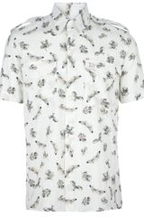 McQ by Alexander McQueen Shortsleeved Printed Shirt - Lyst