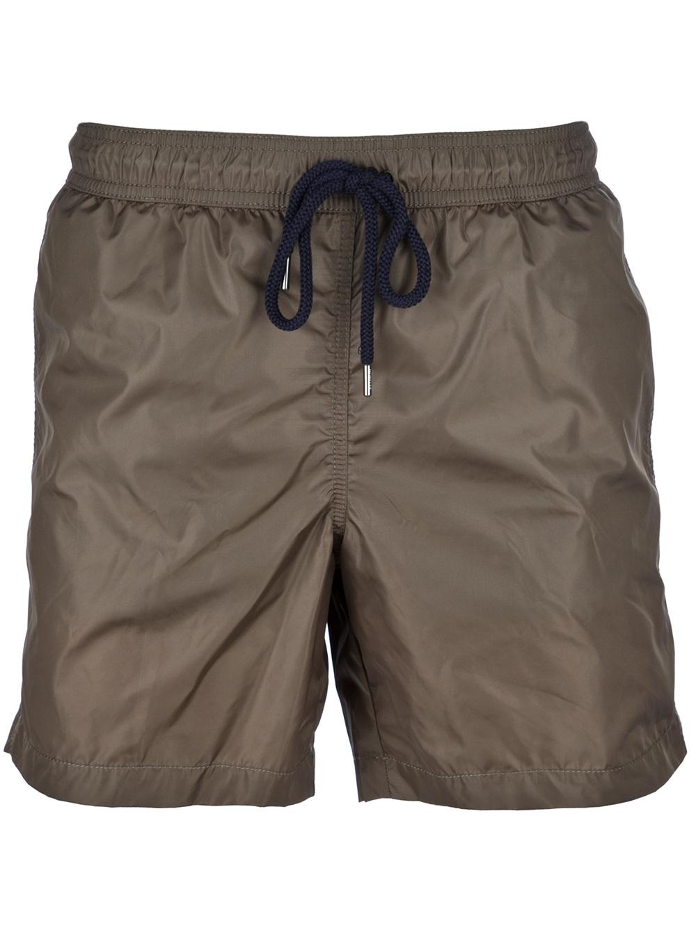 5b3496bb4112 Moncler Drawstring Swim Shorts in Green for Men - Lyst