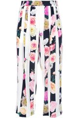 MSGM Multicoloured Floral Trouser