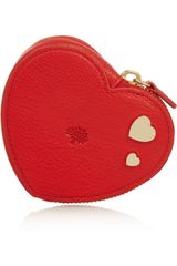 Mulberry Valentines Textured Leather Coin Purse - Lyst