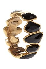 Oscar de la Renta Swarovski Abstract Faceted Crystal Bracelet - Lyst