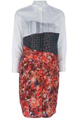 Paul Smith Floralprint Shirt Dress - Lyst