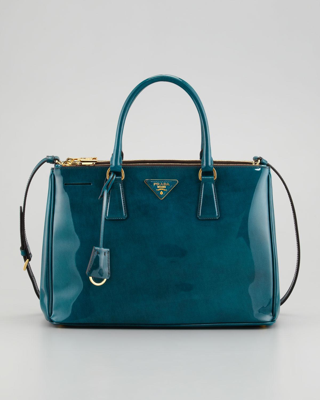 04dd26b0bee8 Lyst - Prada Spazzolato Double Zip Tote Bag in Green