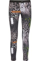 Preen Line Ellen Leopard-Print Stretch-Cotton Drill Pants - Lyst