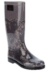 Valentino Lace Printed Welligton Boot
