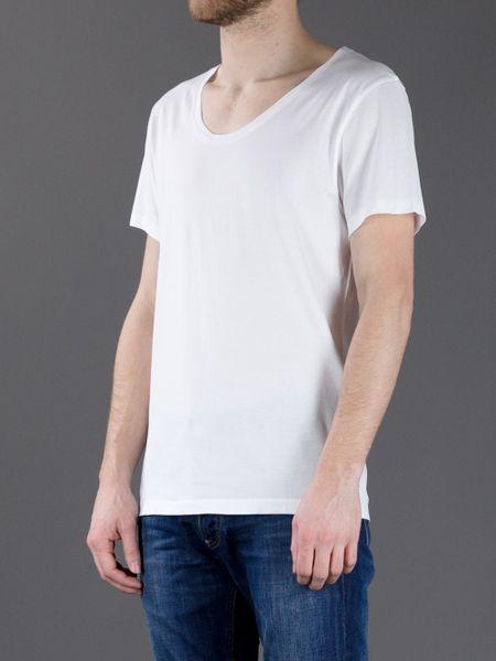 Acne Studios Scoop Neck T Shirt In White For Men Lyst