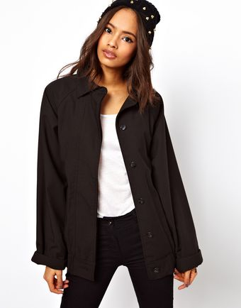 ASOS Collection Slouch Jacket with Collar - Lyst