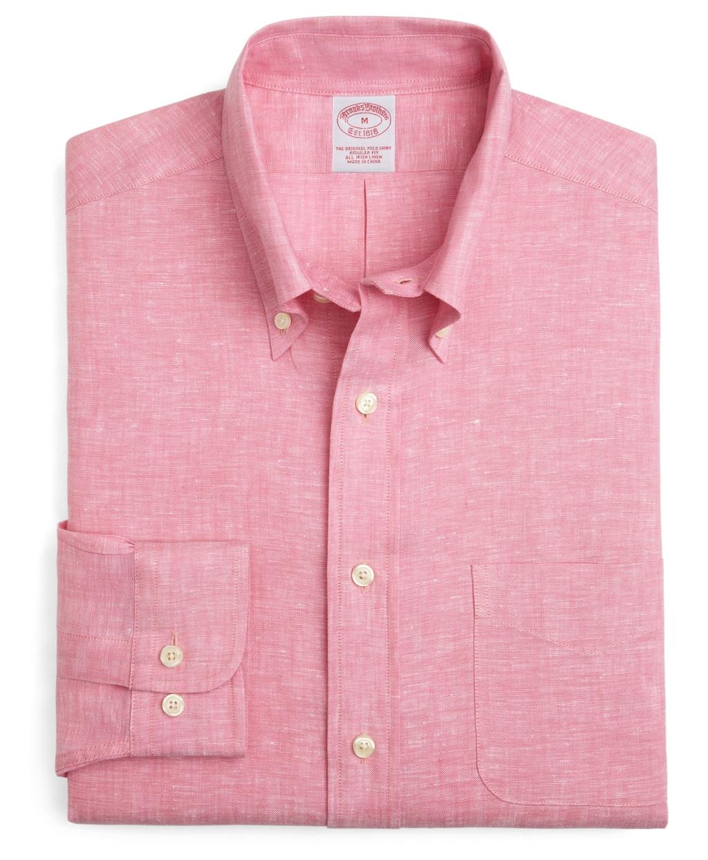 Lyst brooks brothers irish linen regular fit solid sport for Irish linen dress shirts