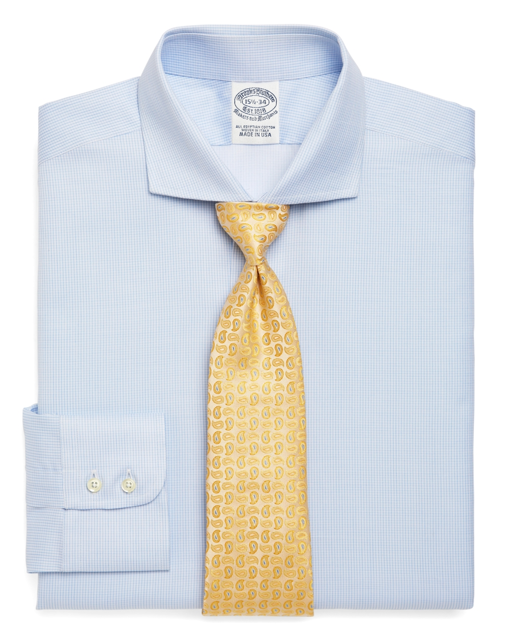 Brooks brothers egyptian cotton slim fit twill micro check for Mens egyptian cotton dress shirts
