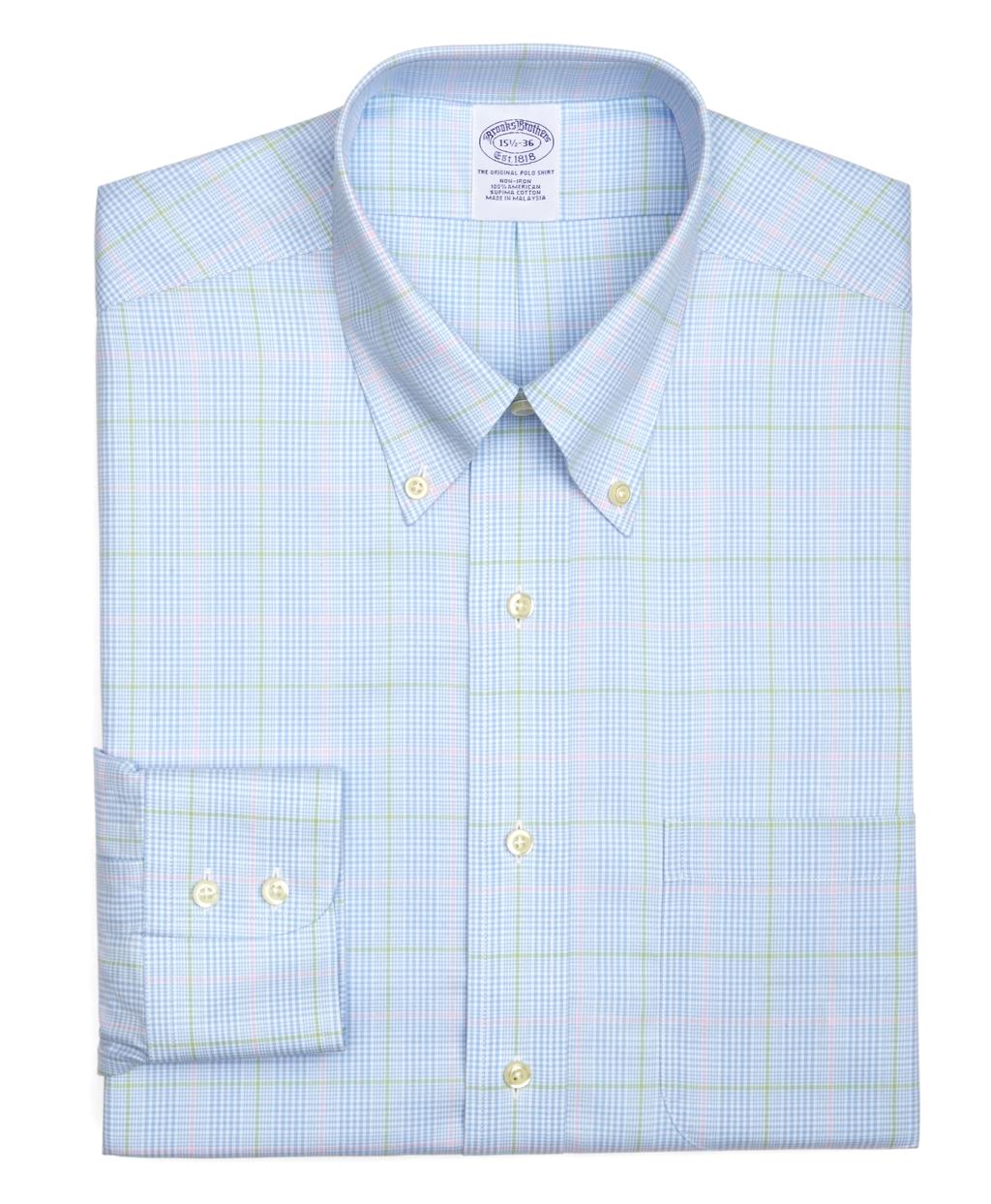 Lyst brooks brothers supima cotton non iron slim fit for Supima cotton dress shirts