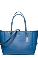 Coach Saffiano Crossbody City Tote - Lyst