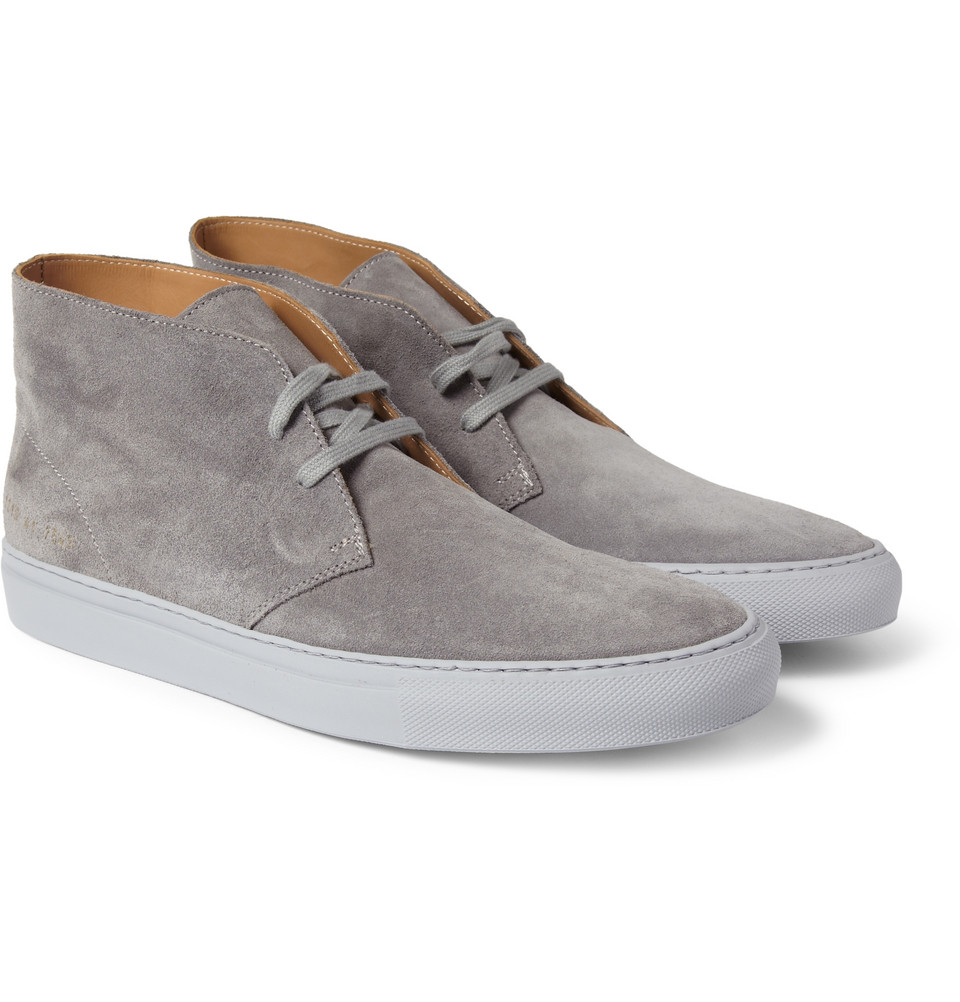 Common Projects Suede Chukka Boots In Gray For Men Lyst