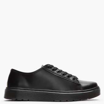 Dr. Martens Black Leather Farrell Lace To Toe Shoe - Lyst