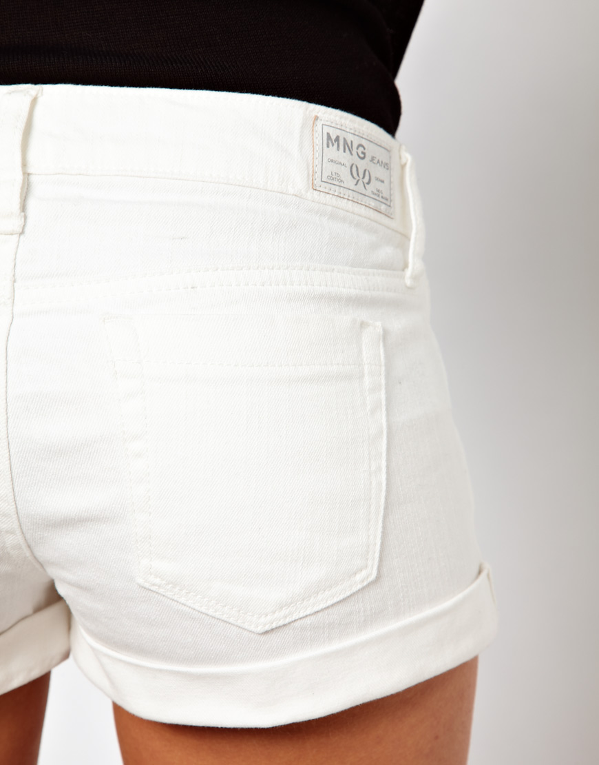 White Jean Shorts Womens - Trendy Clothes