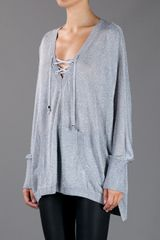 Michael Kors Slouchy Sweater in Gray (silver) - Lyst