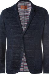 Missoni Knitted Linen and Cotton Blend Blazer - Lyst