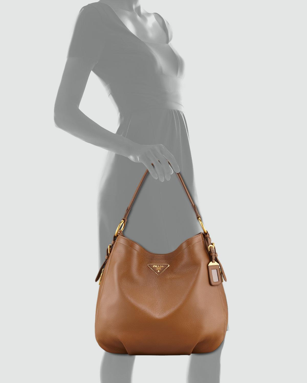 7f9715c61c5d Lyst - Prada Cervo Hobo Bag in Gray