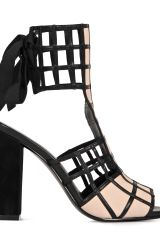 Reiss Ana Lattice Caged T Bar Peep Sandal
