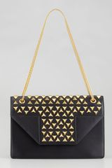 Saint Laurent Betty Studded Chain Shoulder Bag Black - Lyst