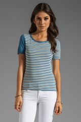 Sonia By Sonia Rykiel Short Sleeve Stripe Top - Lyst
