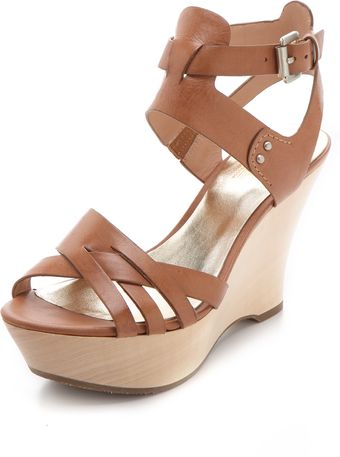Belle By Sigerson Morrison Call Wood Wedges - Lyst