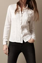 Burberry Brit Structured Denim Shirt - Lyst