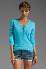 Daftbird Detailed Henley Tee - Lyst