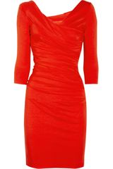 Diane Von Furstenberg Bentley Ruched Stretchjersey Dress - Lyst