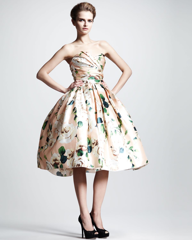 Lyst Dolce Amp Gabbana Convertible Floralprint Silk Dress