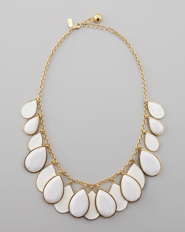 Lyst - Kate Spade Teardrop Necklace in White