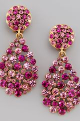 Oscar de la Renta Multistone Teardrop Earrings - Lyst