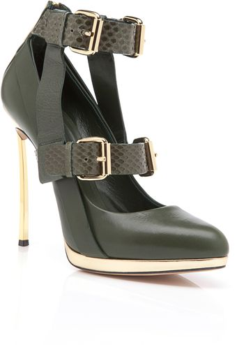 Prabal Gurung Olive Almond Toe Pump - Lyst