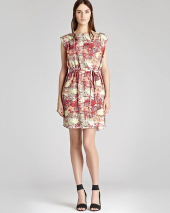 Reiss Printed Dress Brio Tie - Lyst