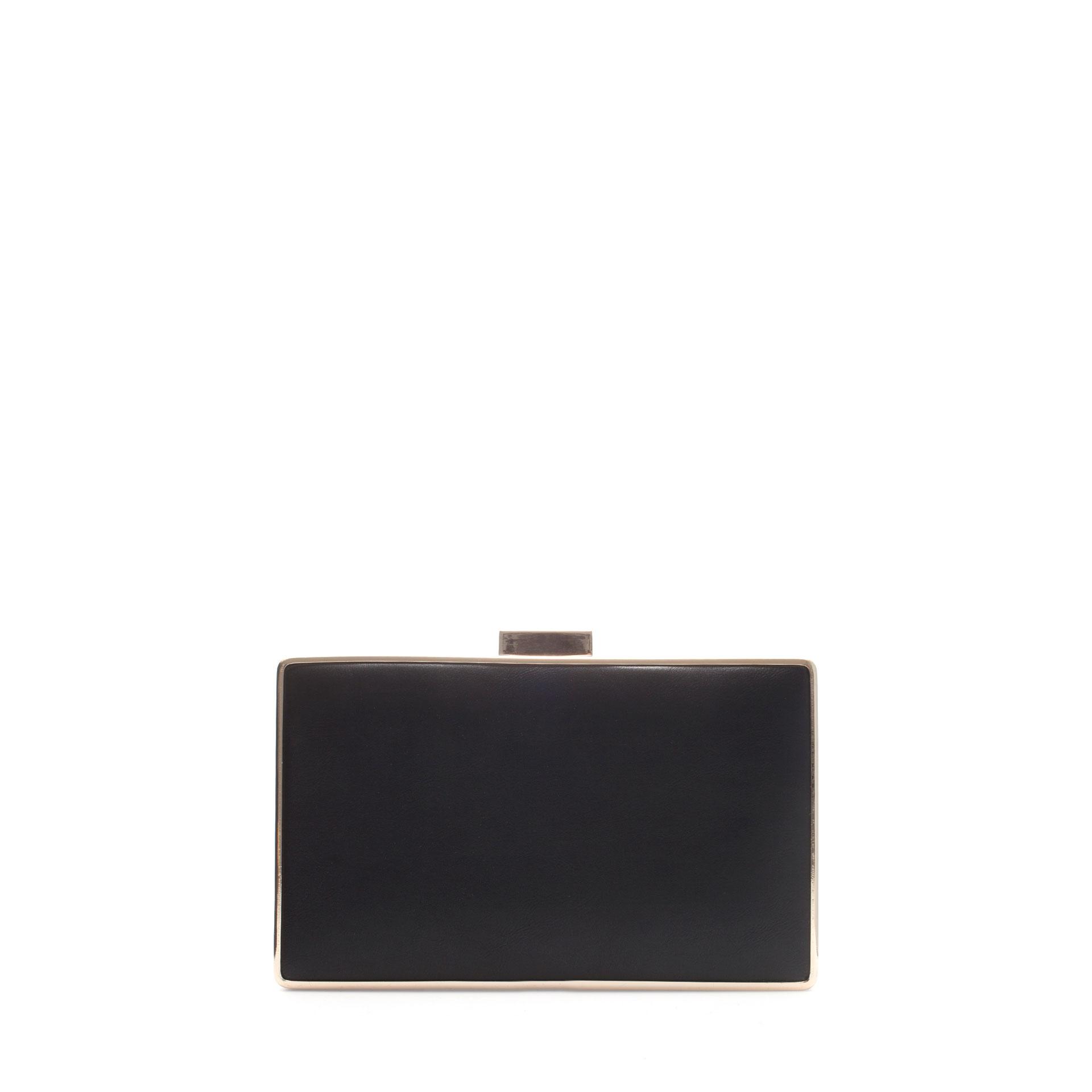 Zara Rectangular Box Bag In Black Lyst