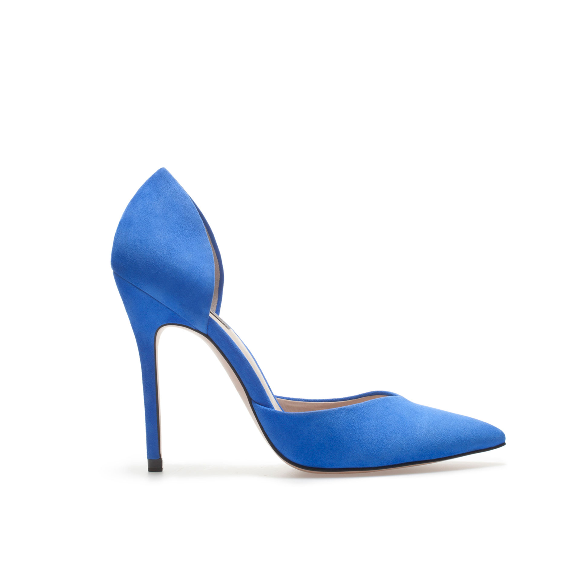 Shoeniverse: ZARA Blue High Heel D'orsay Shoe