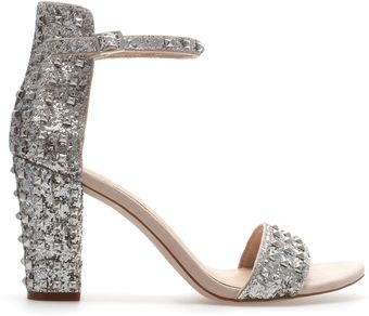 Zara High Heel Sandal with Ankle Strap - Lyst