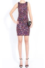 Alice + Olivia Mona Mini Fitted Sequin Dress - Lyst