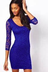 ASOS Collection Asos Bodycon Dress in Lace - Lyst