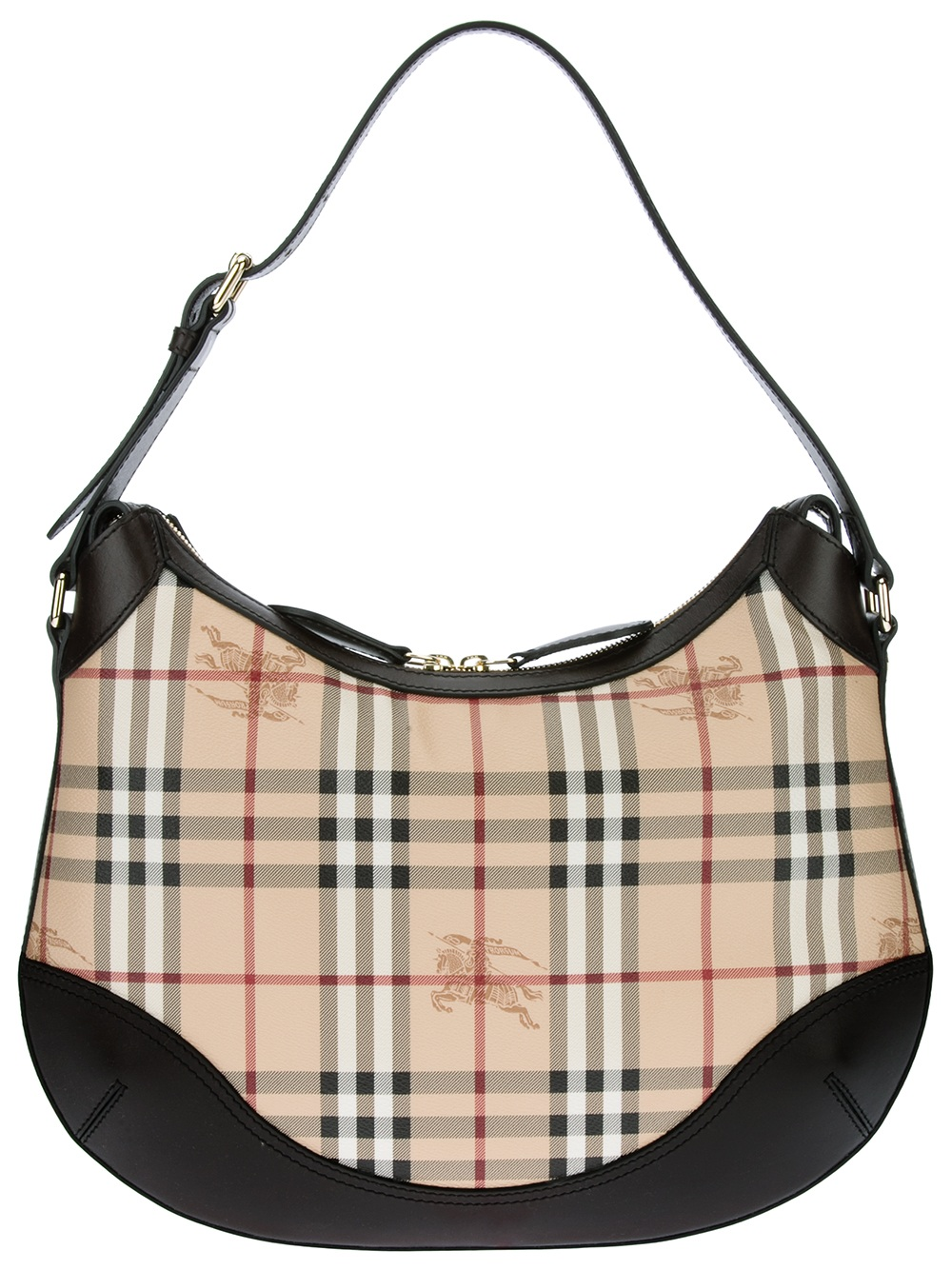 8b738859678 Burberry Classic Check Shoulder Bag in Brown - Lyst