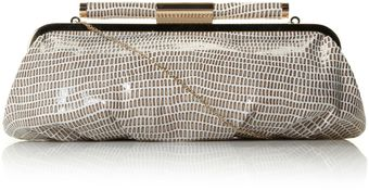 Dune Spiceyas Wetlook Snake Pouchy Clutch Bag - Lyst