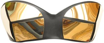 Giuseppe Zanotti Leather Bustier with Laminated Patch - Lyst