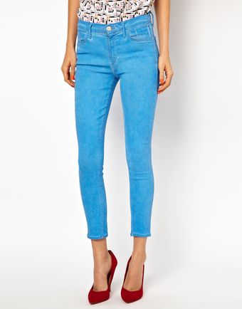 Goldsign Virtual Ocean Ankle Skinny Jeans - Lyst
