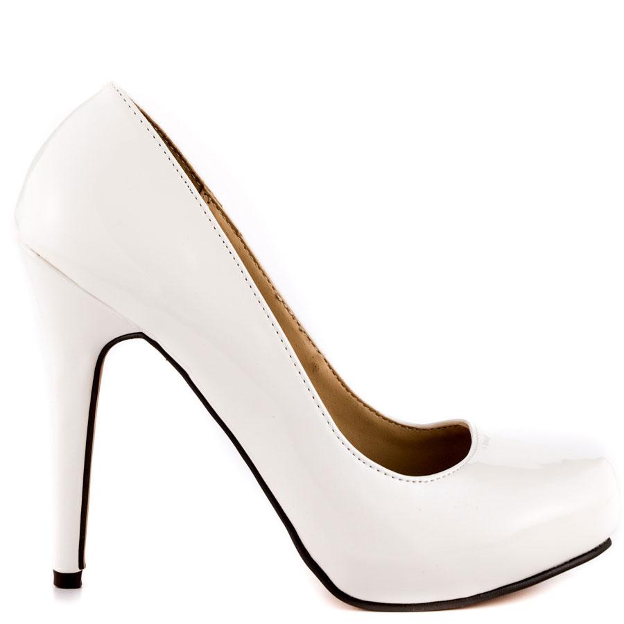 5 Inch White Heels