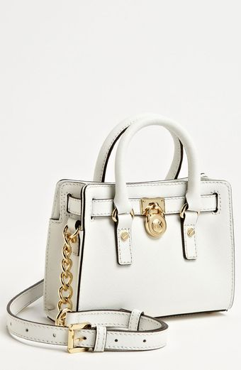 Michael by Michael Kors Hamilton Mini Leather Messenger Bag - Lyst