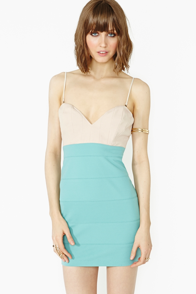 Lyst - Nasty Gal Color Theory Dress In Green-9739