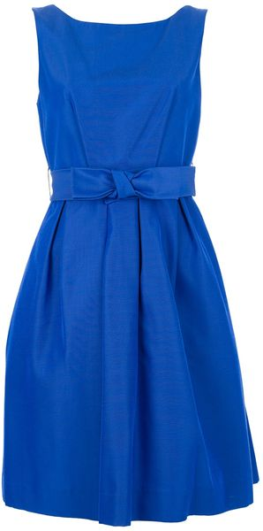 P.a.r.o.s.h. Bow Waist Dress - Lyst
