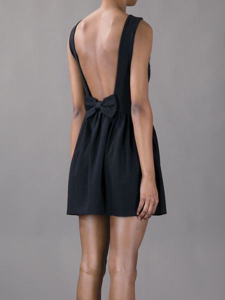 Red Valentino Bow Backless Mini Dress In Black Lyst